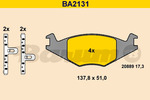 Klocki hamulcowe - komplet BARUM BA2131