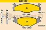 Klocki hamulcowe - komplet BARUM BA2132 BARUM BA2132