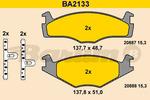 Klocki hamulcowe - komplet BARUM BA2133