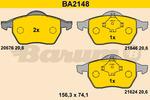 Klocki hamulcowe - komplet BARUM BA2148 BARUM BA2148