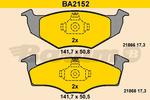 Klocki hamulcowe - komplet BARUM BA2152
