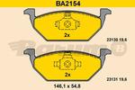Klocki hamulcowe - komplet BARUM BA2154 BARUM BA2154