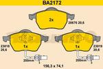 Klocki hamulcowe - komplet BARUM BA2172 BARUM BA2172