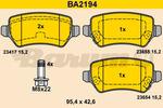 Klocki hamulcowe - komplet BARUM  BA2194