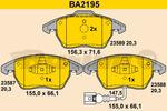 Klocki hamulcowe - komplet BARUM BA2195 BARUM BA2195