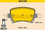 Klocki hamulcowe - komplet BARUM BA2196 BARUM BA2196