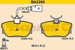 Klocki hamulcowe - komplet BARUM BA2200