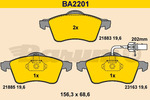 Klocki hamulcowe - komplet BARUM BA2201