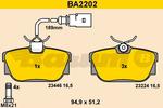 Klocki hamulcowe - komplet BARUM BA2202