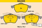 Klocki hamulcowe - komplet BARUM BA2205
