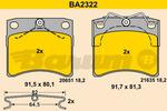 Klocki hamulcowe - komplet BARUM BA2322