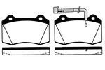 Klocki hamulcowe - komplet RAICAM  RA.0752.0 (Oś przednia)