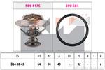 Termostat układu chłodzenia KW 580 417 KW 580417