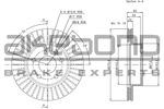 Tarcza hamulcowa AKEBONO BN-0573