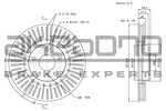 Tarcza hamulcowa AKEBONO BN-1018