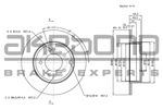 Tarcza hamulcowa AKEBONO BN-1059E