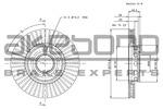 Tarcza hamulcowa AKEBONO BN-1068E