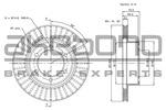 Tarcza hamulcowa AKEBONO  BN-1107