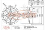 Bęben hamulcowy FREMAX  BD-4726 (Oś tylna)