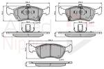 Klocki hamulcowe - komplet COMLINE  ADB3450 (Oś przednia)