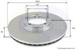 Tarcza hamulcowa COMLINE  ADC1062V (Oś przednia)