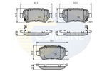 Klocki hamulcowe - komplet COMLINE  CBP31551 (Oś tylna)