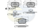 Klocki hamulcowe - komplet COMLINE CBP11224