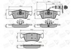 Klocki hamulcowe - komplet COMLINE ADB12015 COMLINE ADB12015