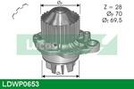 Pompa wody LUCAS ENGINE DRIVE LDWP0653