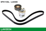 Zestaw paska klinowego wielorowkowego LUCAS LAK0034 LUCAS LAK0034