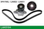 Zestaw paska klinowego wielorowkowego LUCAS  LAK0104