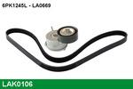 Zestaw paska klinowego wielorowkowego LUCAS  LAK0106