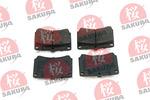 Klocki hamulcowe - komplet SAKURA 600-30-3540 SAKURA 600-30-3540