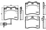 Klocki hamulcowe - komplet HELLA PAGID 8DB 355 018-521 HELLA PAGID 8DB355018-521