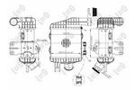 Chłodnica powietrza doładowującego - intercooler ABAKUS 019-018-0002 LORO 019-018-0002