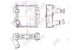 Chłodnica powietrza doładowującego - intercooler ABAKUS  054-018-0012-Foto 2