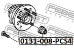Miska odpływowa, korpus osi FEBEST  0131-008-PCS4-Foto 2