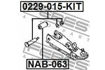 Śruba do regulacji pochylenia koła FEBEST  0229-015-KIT-Foto 2