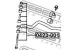Łącznik stabilizatora FEBEST  0423-001 (Oś przednia po obydwu stronach)-Foto 2
