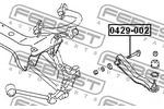 Śruba do regulacji pochylenia koła FEBEST  0429-002-Foto 2