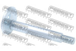 Śruba do regulacji pochylenia koła FEBEST 0429-003 FEBEST 0429-003