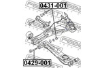 Miska odpływowa, korpus osi FEBEST  0431-001-Foto 2