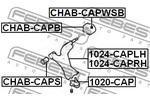 Sworzeń wahacza FEBEST  1020-CAP (Oś przednia, na dole)