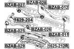 Śruba do regulacji pochylenia koła FEBEST  1629-204-Foto 2