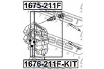 Tłoczek zacisku hamulca FEBEST  1676-211F-KIT