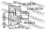 Przegub napędowy - kompletny FEBEST  1710-A4A45 (Od strony koła) (Oś przednia)