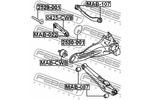 Śruba do regulacji pochylenia koła FEBEST  2529-001-Foto 2