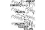 Tuleja wahacza FEBEST  ADAB-012 (Oś przednia, na górze)