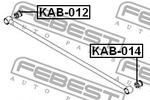 Tuleja wahacza FEBEST  KAB-014 (Oś tylna)