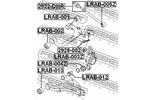 Tuleja wahacza FEBEST  LRAB-005Z (Oś tylna dół) (Zewnętrzny)